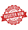 register now stamp sign seal vector image vector image