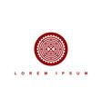 round circle native tribe sign symbol logo vector image vector image