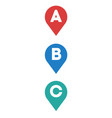 routing location marks icon flat isolated vector image