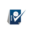 schedule logo design template vector image vector image