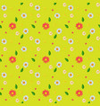 seamless patterned background green leaves and vector image vector image