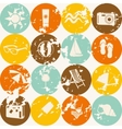 seamless retro summer pattern vector image vector image