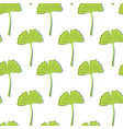 seamless texture with green ginkgo leaves on a vector image vector image