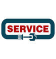 service sign vector image vector image