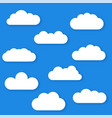 set of cloud icons in trendy flat style isolated vector image vector image