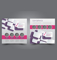 square flyer template brochure design vector image vector image