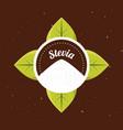 stevia natural sweetener organic label vector image vector image