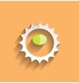 sun icom modern flat design vector image