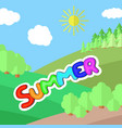 sunny day on a clearing in the forest vector image vector image