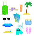The attributes of summer vacation vector image vector image