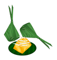 Toddy Palm Cake Wrap with Banana Leaves vector image vector image