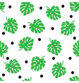 tropical trendy seamless pattern with palm leaves vector image vector image