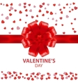 Valentines Day beautiful background with ornaments vector image