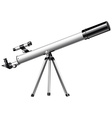 White telescope on tripod vector image vector image