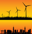 windmills to generate electricity vector image vector image