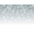 winter background with snowflakes with blank the vector image