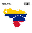 venezuela map border with flag eps10 vector image