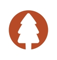 christmas tree decoration isolated icon vector image