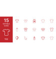 15 tee icons vector image vector image