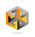 3D construction technology geometry logo vector image