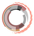 abstract circle design element vector image vector image