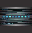 abstract grey metallic blue digital light design vector image vector image