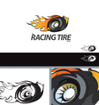 Auto Tire Swoosh Abstract Symbol Branding Design E vector image vector image