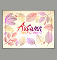 autumn horizontal banner design yellow and red vector image