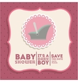 baby shower invitation design vector image vector image