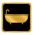 bathtub button on white vector image vector image