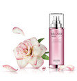 beautiful cosmetic bottle with flower isolated vector image vector image