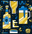 beer hand drawn pattern vector image