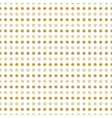 Beige and gold polka dots vector image vector image