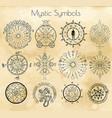 big set with mystic symbols vector image