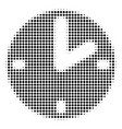 black dot clock icon vector image vector image
