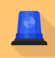 blue flasher icon flat style vector image vector image