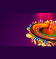 casino roulette big win coins on red vector image vector image