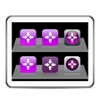 Click here purple app icons vector image