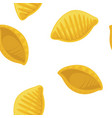conchiglie rigate pasta seamless pattern on vector image