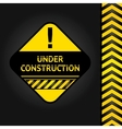 corduroy black background under construction vector image
