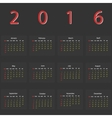 dark calendar 2016 vector image vector image