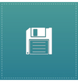 Diskette Save icon vector image vector image