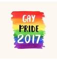 Gay pride 2017 vector image vector image