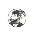 Goat Beard Tie Tuxedo Circle Drawing vector image