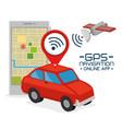 gps navigation online application vector image