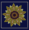 Graphic sunflower in dots
