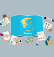 greece economy country growth nation team discuss vector image vector image