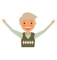 happy elderly man grandfather character vector image vector image