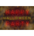 happy halloween neon vector image vector image