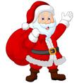 Happy Santa with sack vector image vector image